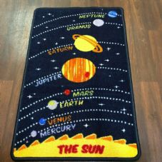 NON SLIP 50x80CM SPACE MAT WASHABLE TOP QUALITY SMALL MATS KIDS HOME-SCHOOL